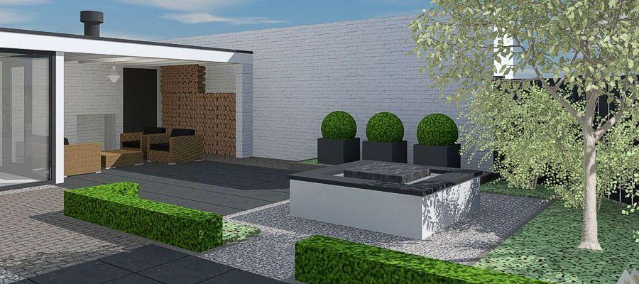 3d tuinontwerpen bram bovenmars tuinen for Huis ontwerpen 3d